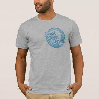 灰色のヒースのワイシャツgrdのロゴ tシャツ