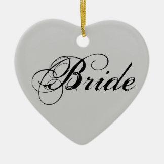 灰色のファンシーな花嫁 セラミックオーナメント