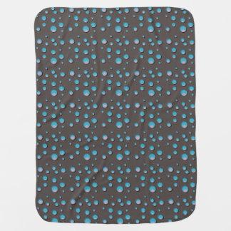 灰色のフリースのベビーブランケットの勾配の青い点 ベビー ブランケット