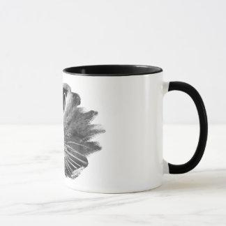 灰色のプロフィール マグカップ