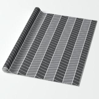 灰色のヘリンボン ラッピングペーパー