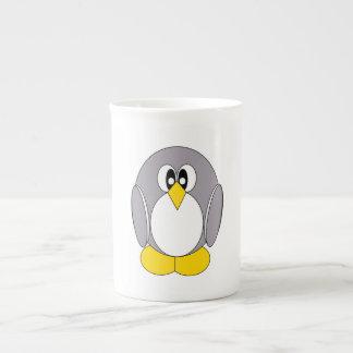 灰色のペンギン ボーンチャイナカップ