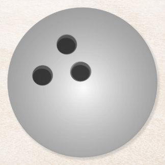灰色のボーリング・ボール ラウンドペーパーコースター