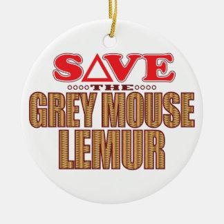 灰色のマウスのLemurの保存 セラミックオーナメント