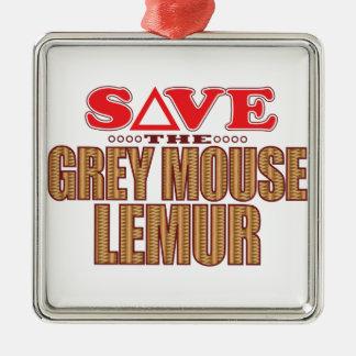 灰色のマウスのLemurの保存 メタルオーナメント