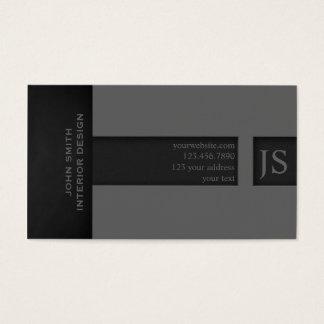 灰色のモノグラム 名刺