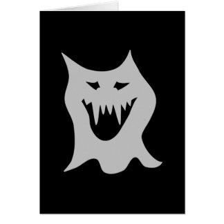灰色のモンスターの幽霊の漫画 カード