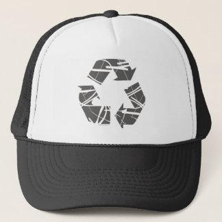 灰色のリサイクルの印 キャップ