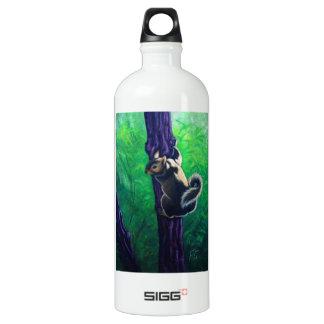 灰色のリスの動物の絵画 ウォーターボトル