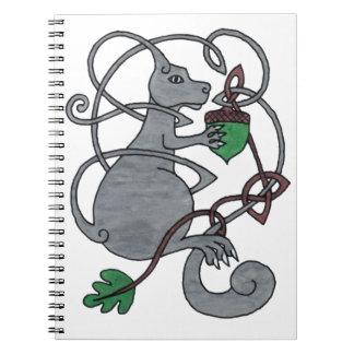 灰色のリス ノートブック