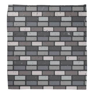 灰色のレンガ壁 バンダナ