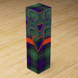 灰色の一族の格子縞のスコットランドのキルトのタータンチェック ワインギフトボックス