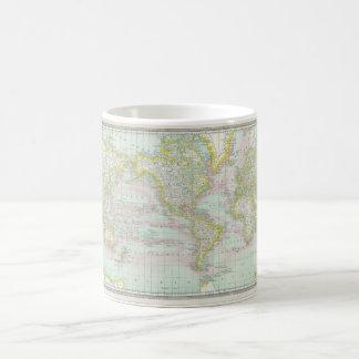 灰色の世界地図6 コーヒーマグカップ