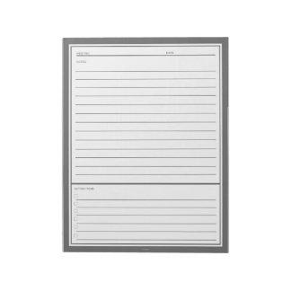 灰色の会合のノート ノートパッド