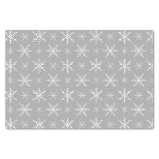 灰色の冬の雪片パターン 薄葉紙