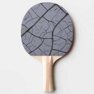 灰色の割れたペンキの卓球ラケット 卓球ラケット