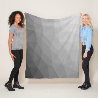 灰色の勾配の幾何学的な網 フリースブランケット