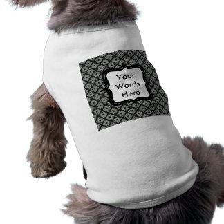 灰色の十字形パターン ペット服