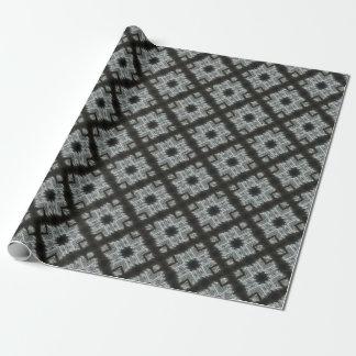 灰色の十字形 ラッピングペーパー