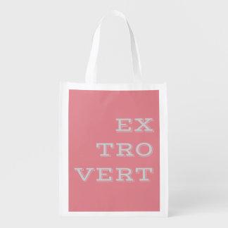 灰色の外向性の再使用可能な買い物袋 エコバッグ