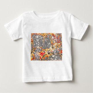 灰色の大理石のデザイン ベビーTシャツ