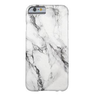灰色の大理石の石造りの黒いひび iPhone 6 ベアリーゼアケース