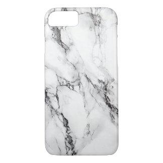 灰色の大理石の石造りの黒いひび iPhone 7ケース