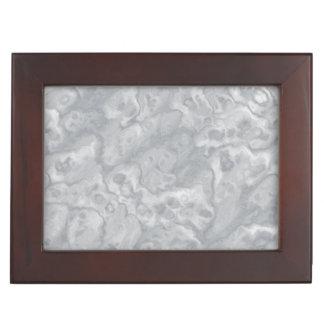 灰色の大理石の記念品箱 ジュエリーボックス