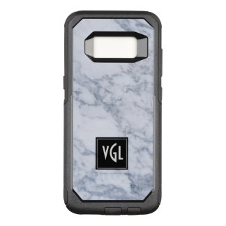灰色の大理石の質の黒のアクセントのモノグラム オッターボックスコミューターSamsung GALAXY S8 ケース