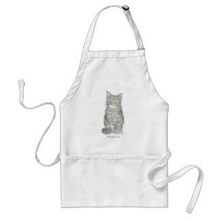 灰色の子ネコのエプロン スタンダードエプロン