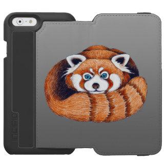 灰色の小さいレッサーパンダ INCIPIO WATSON™ iPhone 6 ウォレットケース