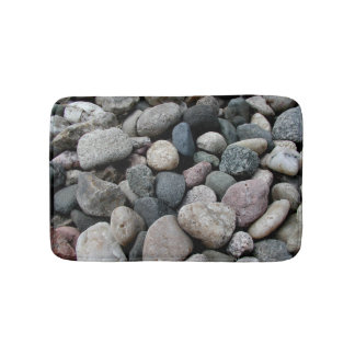 灰色の川の石の記憶泡の台所敷物の陰 バスマット