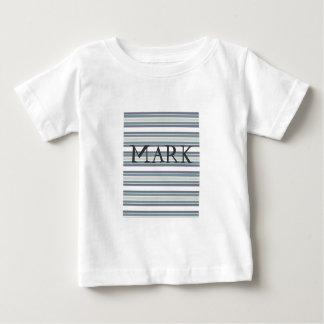 灰色の幼児Tシャツのグラフィックのストライプのデザイン ベビーTシャツ