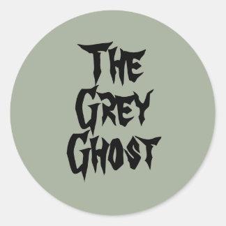 灰色の幽霊のステッカー ラウンドシール