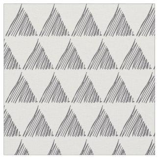 灰色の幾何学的なパターン ファブリック