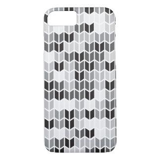 灰色の幾何学的なパターン iPhone 8/7ケース