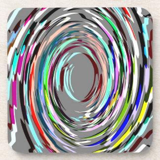 灰色の抽象芸術の渦巻のコルクのコースター コースター