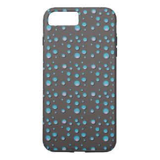 灰色の携帯電話の箱の勾配の青い点 iPhone 8 PLUS/7 PLUSケース