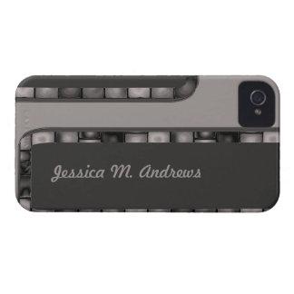 灰色の木炭タイルのボーダー Case-Mate iPhone 4 ケース