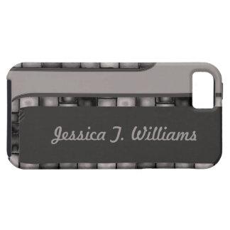 灰色の木炭タイルのボーダー iPhone SE/5/5s ケース