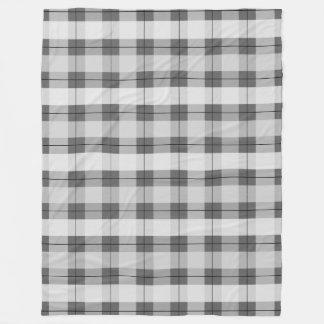 灰色の格子縞2.0 フリースブランケット
