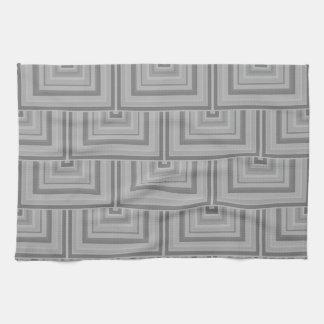 灰色の正方形のスケール キッチンタオル