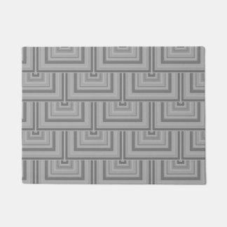 灰色の正方形のスケール ドアマット