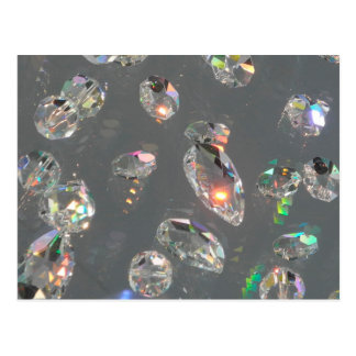 灰色の水晶宝石のプリント ポストカード