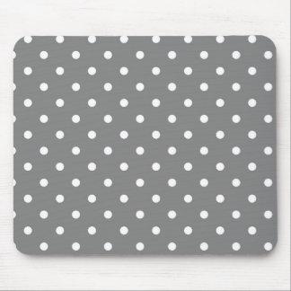 灰色の水玉模様のテンプレート マウスパッド