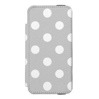 灰色の水玉模様パターン INCIPIO WATSON™ iPhone 5 財布 ケース