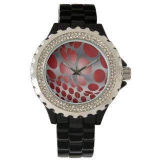 灰色の水玉模様 腕時計