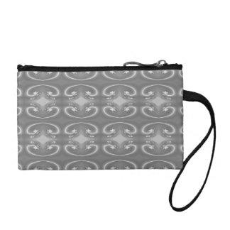灰色の渦巻、エレガントなパターン コインパース