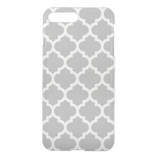 灰色の灰色白のモロッコのクローバーパターン#5 iPhone 8 PLUS/7 PLUS ケース