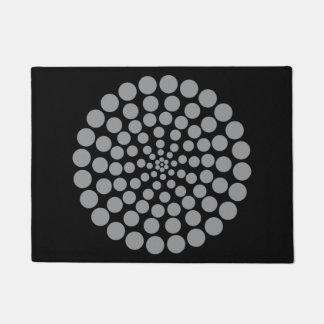 灰色の点のプリント。 カスタマイズ可能な背景色 ドアマット